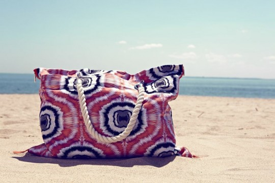 Beachbag on the beach