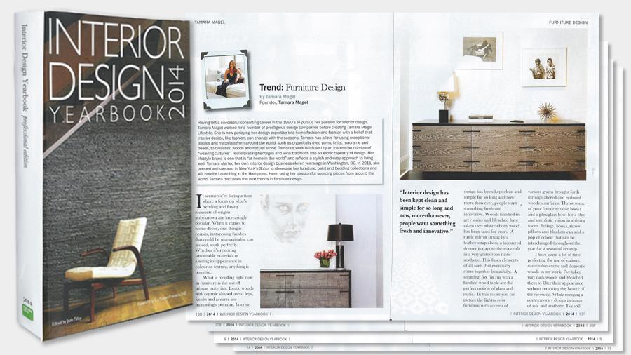 Press coverage of tamara magel hamptons designer for Interior design yearbook